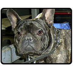French Bulldog Brindle Double Sided Fleece Blanket (Medium)