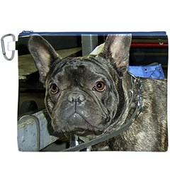 French Bulldog Brindle Canvas Cosmetic Bag (XXXL)