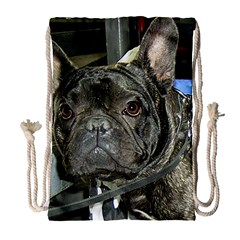 French Bulldog Brindle Drawstring Bag (Large)