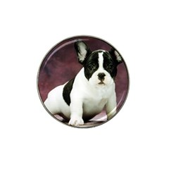 Brindle Pied French Bulldog Puppy Hat Clip Ball Marker (4 pack)