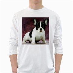Brindle Pied French Bulldog Puppy White Long Sleeve T-Shirts