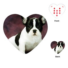 Brindle Pied French Bulldog Puppy Playing Cards (Heart)