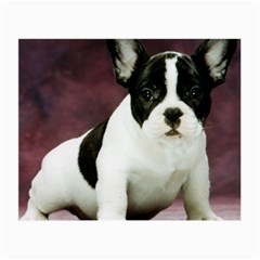 Brindle Pied French Bulldog Puppy Small Glasses Cloth (2-Side)