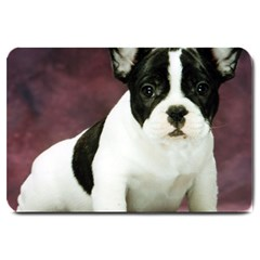 Brindle Pied French Bulldog Puppy Large Doormat
