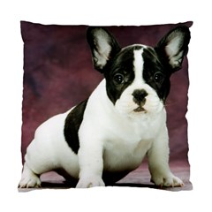 Brindle Pied French Bulldog Puppy Standard Cushion Case (Two Sides)