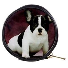 Brindle Pied French Bulldog Puppy Mini Makeup Bags
