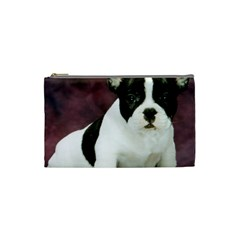 Brindle Pied French Bulldog Puppy Cosmetic Bag (Small)
