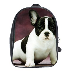 Brindle Pied French Bulldog Puppy School Bags(Large)