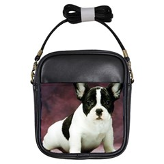 Brindle Pied French Bulldog Puppy Girls Sling Bags