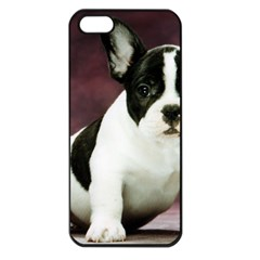 Brindle Pied French Bulldog Puppy Apple iPhone 5 Seamless Case (Black)