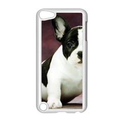 Brindle Pied French Bulldog Puppy Apple iPod Touch 5 Case (White)