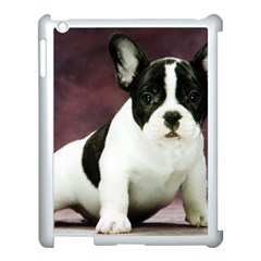 Brindle Pied French Bulldog Puppy Apple iPad 3/4 Case (White)