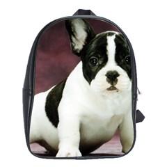 Brindle Pied French Bulldog Puppy School Bags (XL)