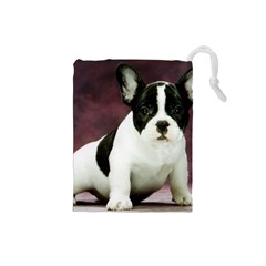 Brindle Pied French Bulldog Puppy Drawstring Pouches (Small)