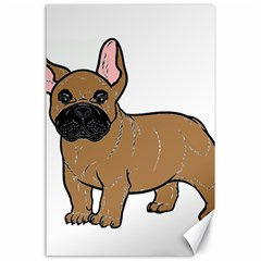 French Bulldog Tan Cartoon Canvas 24  x 36