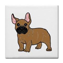 French Bulldog Tan Cartoon Face Towel
