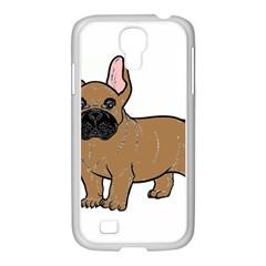 French Bulldog Tan Cartoon Samsung GALAXY S4 I9500/ I9505 Case (White)