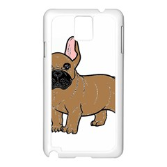 French Bulldog Tan Cartoon Samsung Galaxy Note 3 N9005 Case (White)