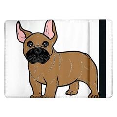 French Bulldog Tan Cartoon Samsung Galaxy Tab Pro 12.2  Flip Case