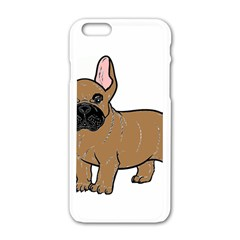 French Bulldog Tan Cartoon Apple iPhone 6/6S White Enamel Case