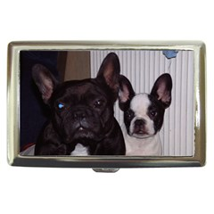 2 French Bulldogs Cigarette Money Cases