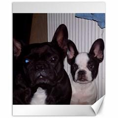 2 French Bulldogs Canvas 16  x 20