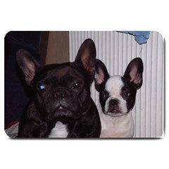 2 French Bulldogs Large Doormat