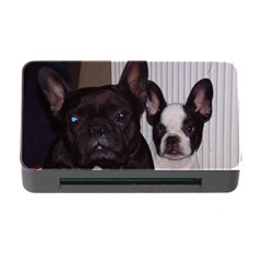 2 French Bulldogs Memory Card Reader with CF