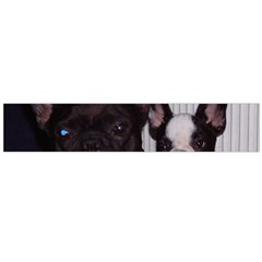 2 French Bulldogs Flano Scarf (Large)