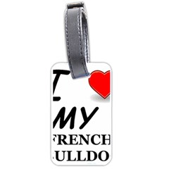 French Bulldog Love Luggage Tags (One Side)