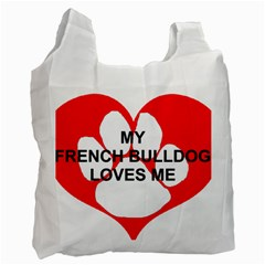 My French Bulldog Loves Me Recycle Bag (Two Side)