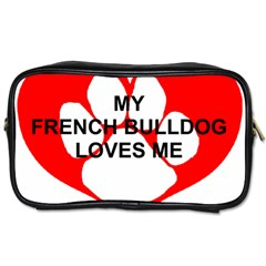 My French Bulldog Loves Me Toiletries Bags