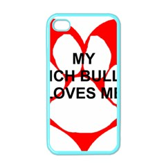 My French Bulldog Loves Me Apple iPhone 4 Case (Color)