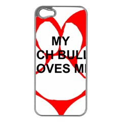 My French Bulldog Loves Me Apple iPhone 5 Case (Silver)