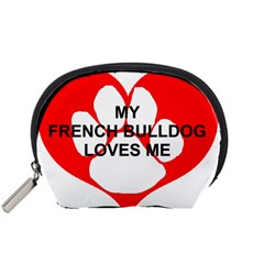 My French Bulldog Loves Me Accessory Pouches (Small)