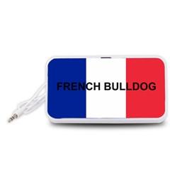 French Bulldog France Flag Portable Speaker (White)