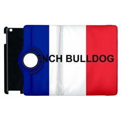 French Bulldog France Flag Apple iPad 3/4 Flip 360 Case