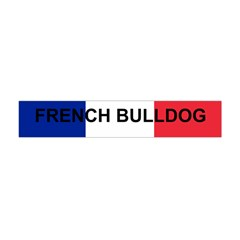 French Bulldog France Flag Flano Scarf (Mini)
