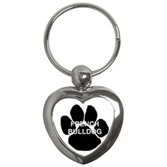 French Bulldog Name Mega Paw Key Chains (Heart)