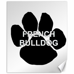French Bulldog Name Mega Paw Canvas 8  x 10
