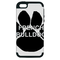 French Bulldog Name Mega Paw Apple iPhone 5 Hardshell Case (PC+Silicone)