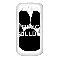 French Bulldog Name Mega Paw Samsung Galaxy S3 Back Case (White)