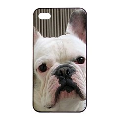 French Bulldog White Apple iPhone 4/4s Seamless Case (Black)