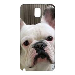 French Bulldog White Samsung Galaxy Note 3 N9005 Hardshell Back Case