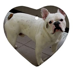 French Bulldog Full Heart Ornament (Two Sides)