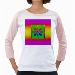 Flower Mosaic Girly Raglans