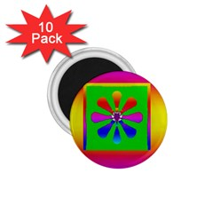 Flower Mosaic 1.75  Magnets (10 pack)