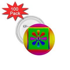 Flower Mosaic 1.75  Buttons (100 pack)