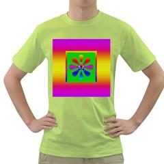 Flower Mosaic Green T-Shirt