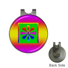 Flower Mosaic Hat Clips with Golf Markers